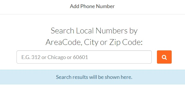 Search local phone number